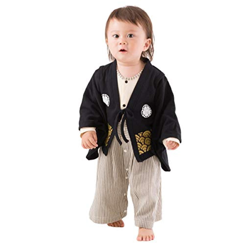 (赤ちゃんまーけっと) 袴ロンパース 男の子 ベビー キッズ 紋付 80サイズ