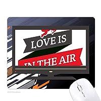 バレンタインデー愛は漂っています ノンスリップラバーマウスパッドはコンピュータゲームのオフィス