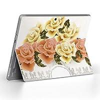 Surface go 専用スキンシール サーフェス go ノートブック ノートパソコン カバー ケース フィルム ステッカー アクセサリー 保護 フラワー 花 フラワー 006066