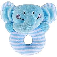 aiweasi Lovelyかわいい赤ちゃんおもちゃ1pcベビー子供クリエイティブソフトPlush Rattle手おもちゃ教育玩具(象)