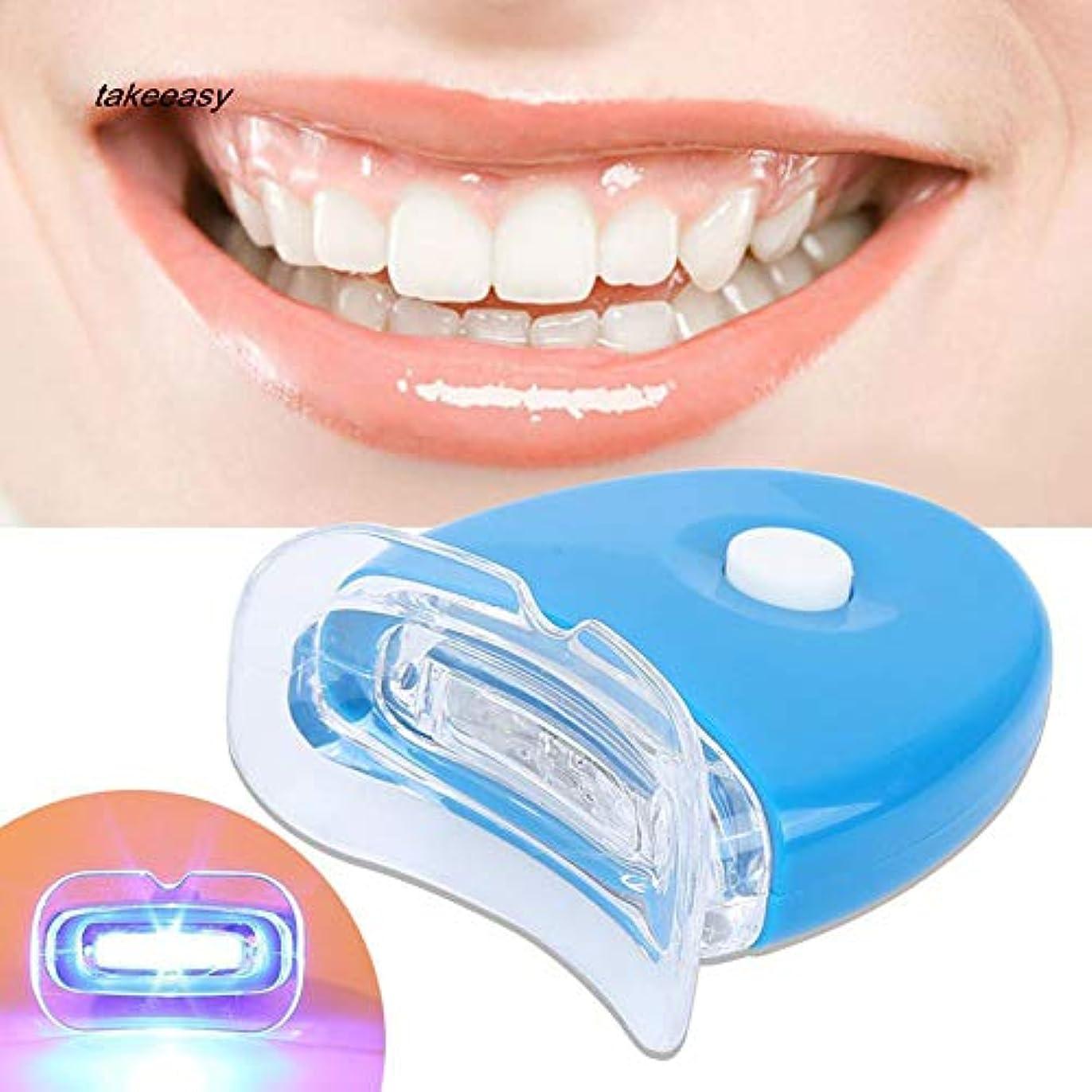 空いている繊毛四回歯ホワイトニング器 歯美白器 美歯器 ホワイトニング ホワイトナー ケア 歯の消しゴム 歯科機器 口腔ゲルキット ライト付き 歯を白くする