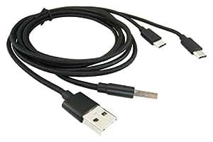 PASCAL USB Type-C 通信 充電 ケーブル 2本 セット