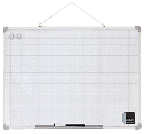 アスカ ホワイトボード セクションボード Lサイズ 450×600mm VWB068 背面用マグネットつき 方眼あり タテヨコ