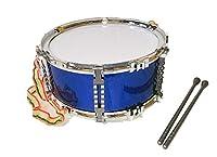 子供 スネア ドラム カラフル 打楽器 ドラムスティック ストラップ 付き (ブルー)