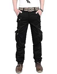 Cityoung メンズ カーゴパンツ 作業着 多機能 ズボン ミリタリー ワークパンツ 6ポケット/8ポケット