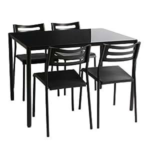 タマリビング ダイニングテーブル 5点セット セサミ ブラック テーブルサイズ幅110×奥行75×高さ74.5cm 50001621
