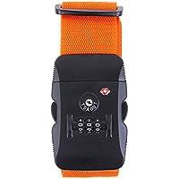 Aisxle TSAロックベルト スーツケースベルト TSA ロック ダイヤル式 ロックスーツケースベルト 解錠確認 ロック搭載ベルト オレンジ