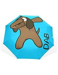 ユキオ(UKIO) 折りたたみ傘 晴雨兼用 遮光 遮熱 手動開閉式 飛び跳ね防止 レディース おしゃれ 犬 犬柄 Hippop ダンス 日傘 超撥水 耐強風 軽量 UVカット 収納ポーチ付