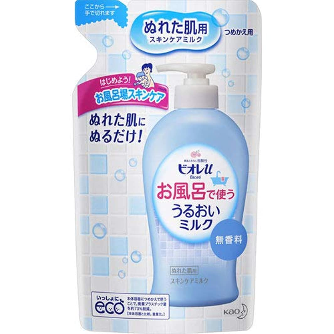 一目施し焦げビオレu お風呂で使ううるおいミルク 無香料 つめかえ用 250mL
