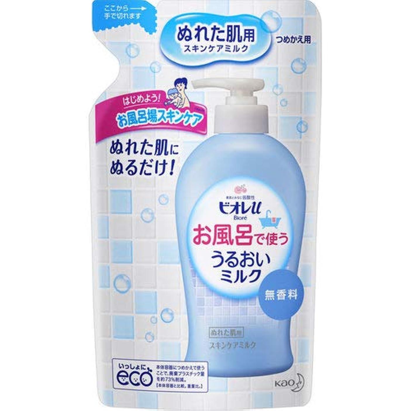 もっと少なくイチゴ接触ビオレu お風呂で使ううるおいミルク 無香料 つめかえ用 250mL