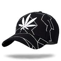 WHITE FANG(ホワイトファング) 帽子 キャップ ワッペン おしゃれ リーフ カジュアル 野球帽 メンズ CA025 (02:ブラック)