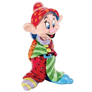 Enesco Disney by Britto Dopey Mini Figurine, 2.85-Inch /ロメロブリット/ディズニー/フィギュア/白雪姫/ドーピー(おとぼけ)/並行輸入品