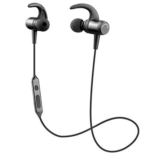 SoundPEATS(サウンドピーツ) Bluetooth イヤホン 高音質 [メーカー1年保証]ACCコーデック + Bluetooth 4.1 + CSRチップ採用 低遅延 防汗/防滴 スポーツタイプ マイク搭載 ハンズフリー通話 CVC6.0ノイズキャンセリング搭載 ブルートゥース イヤホン ワイヤレス イヤホン Bluetooth ヘッドホン Q24 ブラック