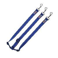 ペットリーシュ ハイエナロープ三頭牽引ロープペット紐付き反射縞犬鎖ペット用品中型大犬(首輪なし) (色 : 青, サイズ さいず : 2.5 * 50cm)