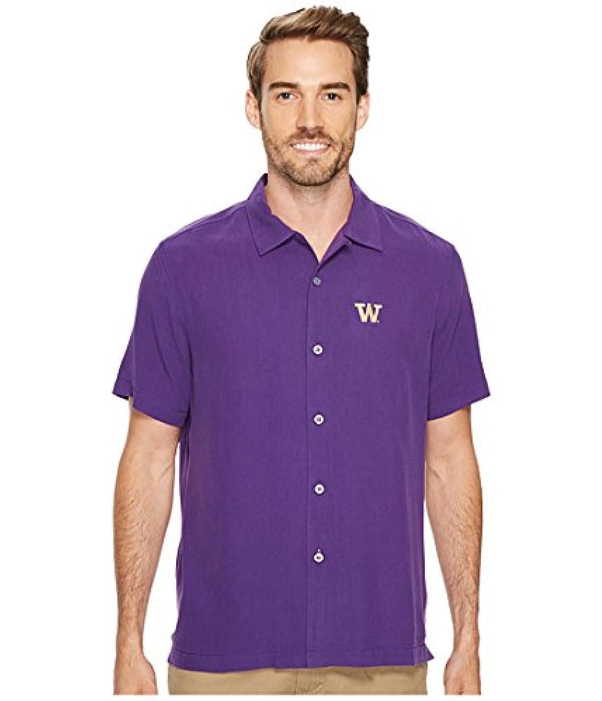 報告書ジャベスウィルソン先生(トミーバハマ)Tommy Bahama メンズシャツ?ワイシャツ Collegiate Series Catalina Twill University of Washington LG L [並行輸入品]