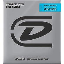 Dunlop DBSBS40120 Super Bright Bass Strings, Stainless Steel, Light.040-.120, 5 Strings/Set 5 String Medium