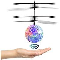 alotm Mini Flying RCドローンヘリコプター赤外線検知誘導ヘリコプターフライトボールトイwith LED照明サスペンションAircraft For Kids Teenagers子供ギフト