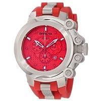 腕時計 インヴィクタ Invicta Men's 11666 Coalition Force Chronograph Red Dial Red Polyurethane Watch【並行輸入品】