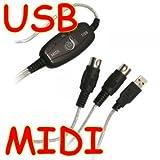 Proster USB MIDI ケーブル 2M 内蔵ドライバ 1in 1out 楽器をPCと接続 USB給電