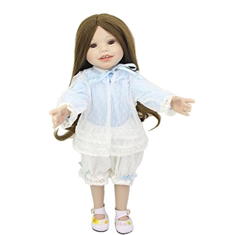 新しい到着18インチ人形アメリカンRealistic FullビニールBabiesガール人形Lifelike新生児ベビーおもちゃキッズ誕生日クリスマスギフト