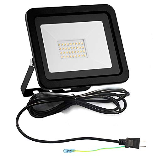 SMARUP 30W led 投光器 LED作業ライト 昼光色 IP65防水 屋外照明 1m日本プラグ付き (30W)