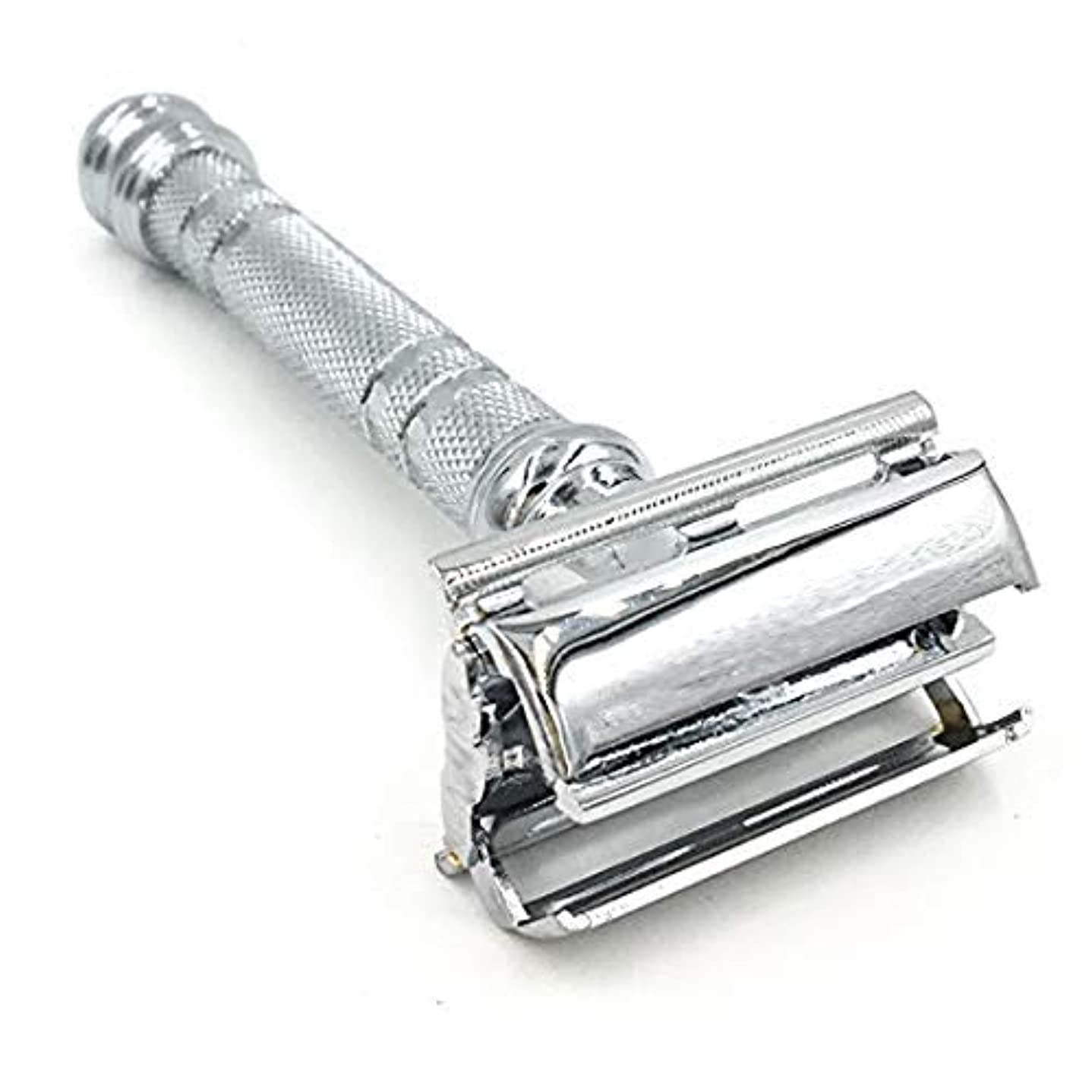 Parker 66R Butterfly Open Double Edge Safety Razor - Super Heavyweight - Brand New for 2016 by Parker Safety Razor