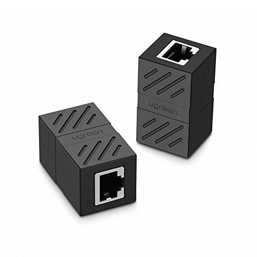 UGREEN LANケーブル 延長コネクタ cat7 cat6 RJ45 中継コネクタ ギガビット対応 8P8C lan端子 メス-メス 2個入り