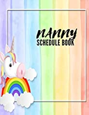 Nanny Schedule Book: Daily Routine Baby tracker journal for newborns.