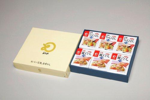 【公式】みろくや 冷凍ちゃんぽん皿うどん各3食