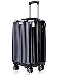 TTOvaligeria[TTOバリジェリア] スーツケース 軽量 静音 TSAロック搭載 Wファスナータイプ 大型 容量最大20%拡張 機内持ち込み (Lサイズ)