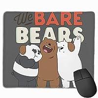 私たちは裸の熊のロゴのポスター マウスパッド 25×30 大判 ノンスリップ 防水 ゲーミング おしゃれ マウスの精密度を上がる
