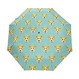 折りたたみ傘 自動開閉 レディース 犬 ペット 軽量 携帯 日傘 ワンタッチ UVカット 頑丈な8本骨 耐強風 グラスファイバー 収納ケース付