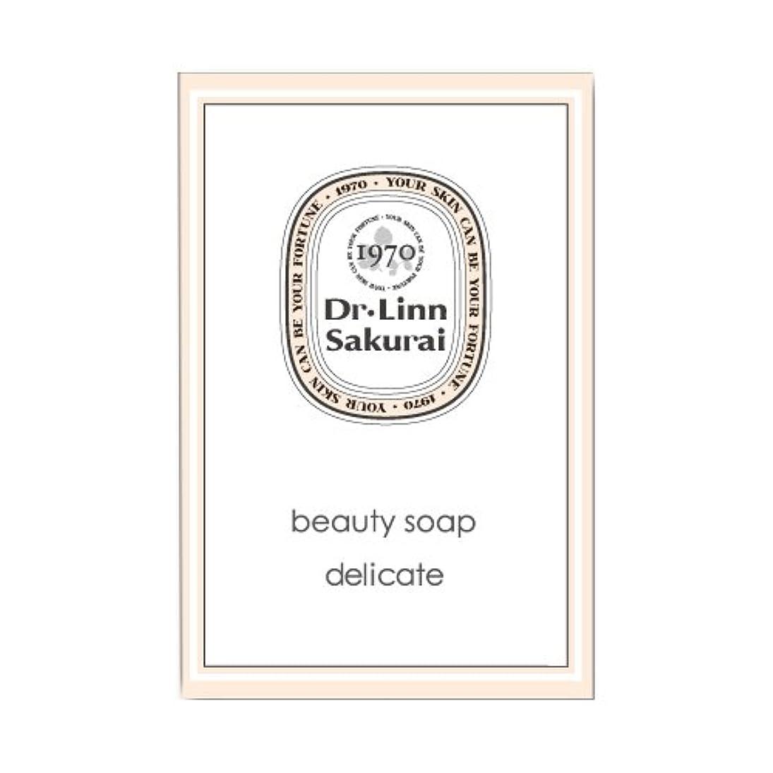水銀のドラッグ細部ドクターリンサクライ 洗顔石鹸 ビューティソープ デリケート (90g)