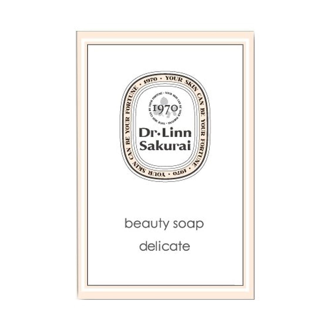 夢申し立てる抽象ドクターリンサクライ 洗顔石鹸 ビューティソープ デリケート (90g)