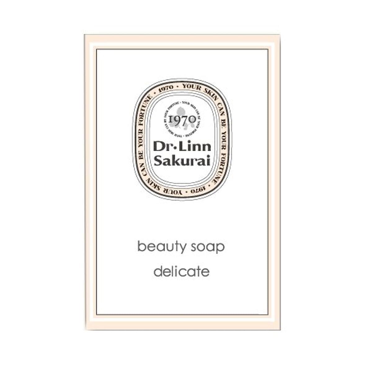 住人斧しわドクターリンサクライ 洗顔石鹸 ビューティソープ デリケート (90g)