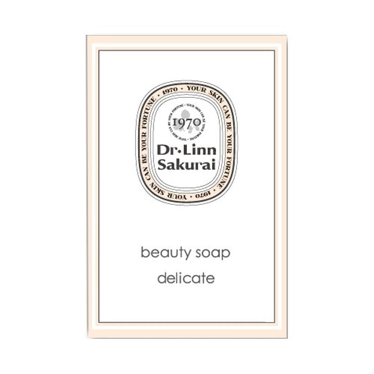 ミリメーター人物資料ドクターリンサクライ 洗顔石鹸 ビューティソープ デリケート (90g)