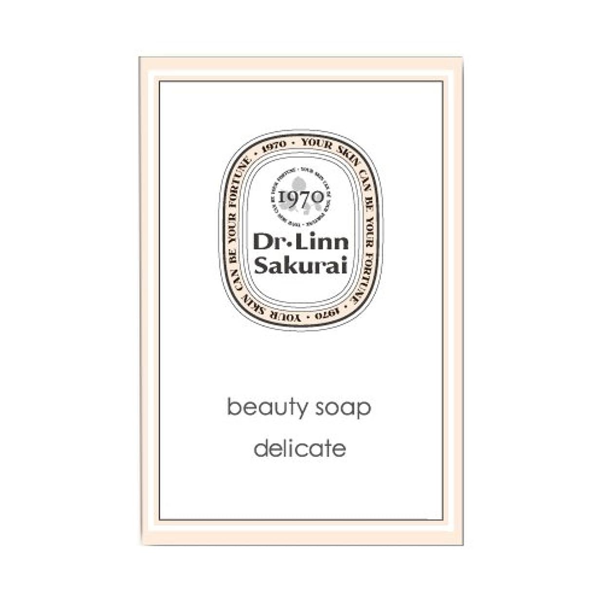 名前回想留め金ドクターリンサクライ 洗顔石鹸 ビューティソープ デリケート (90g)
