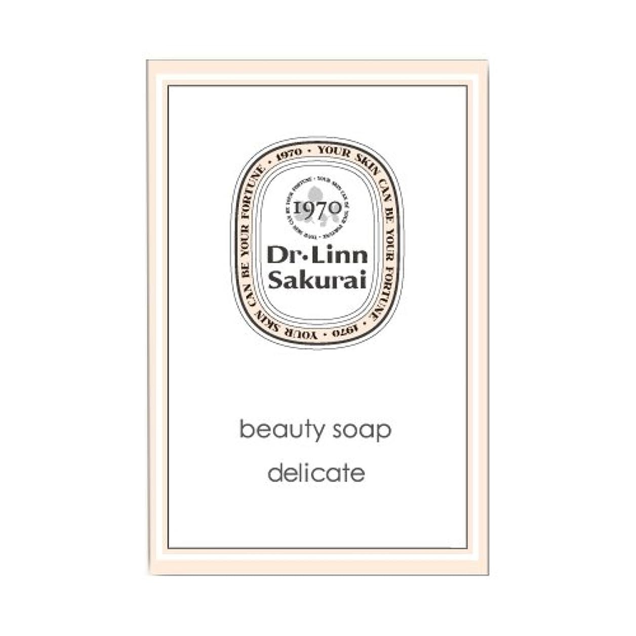 保持する敗北ぎこちないドクターリンサクライ 洗顔石鹸 ビューティソープ デリケート (90g)