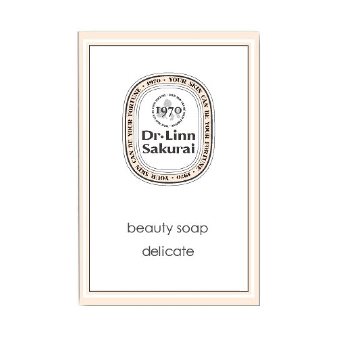 学ぶ懐縁石ドクターリンサクライ 洗顔石鹸 ビューティソープ デリケート (90g)