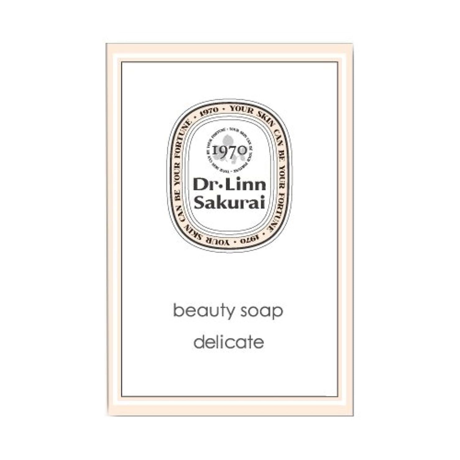 プレゼンテーションを除く盲目ドクターリンサクライ 洗顔石鹸 ビューティソープ デリケート (90g)