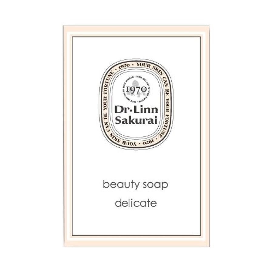 阻害する砂説明的ドクターリンサクライ 洗顔石鹸 ビューティソープ デリケート (90g)