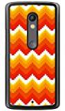 YESNO ブロックウェーブ レッド (クリア) / for Moto X Play XT1562/MVNOスマホ(SIMフリー端末) MMRXPY-PCCL-201-N039 MMRXPY-PCCL-201-N039