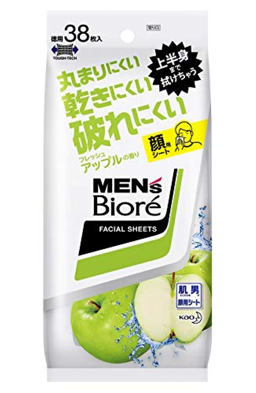 教育する触手第四メンズビオレ 洗顔シート フレッシュアップルの香り <卓上タイプ> 38枚入