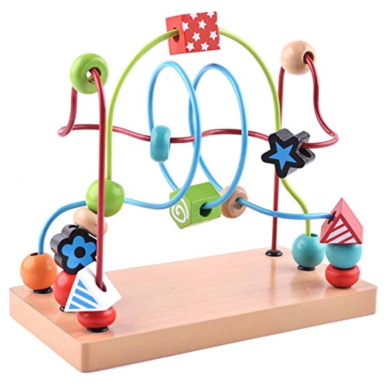 Tuersuer 幼児用早期玩具 木製プリントビーズビーズ 子供用 計算教育玩具 (カラフル)
