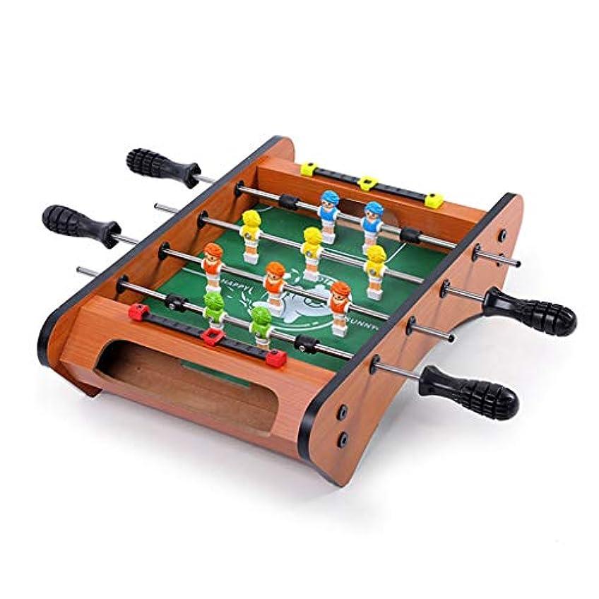 トークン他の日耐えるテーブルサッカー子供のおもちゃ3-10歳子供のおもちゃギフト6席テーブルサッカー機家族のゲーム機ギフト子供の教育玩具 (Color : WOOD, Size : 37.5*24*8.5CM)