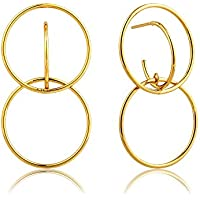 Double Circle Front Earrings