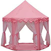 テント キッズテント 子供部屋 Kids Tent 姫テント 子供用テント 室内 可愛い お城 ピカピカLED電球付き