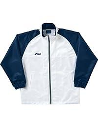 アシックス(asics) ウインドブレーカージャケット OWW508 0150 ホワイト/ネイビー S
