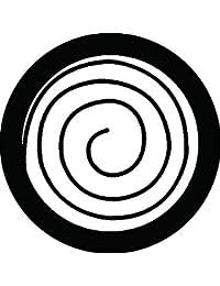 家紋シール 渦巴紋 布タイプ 直径40mm 6枚セット NS4-0251