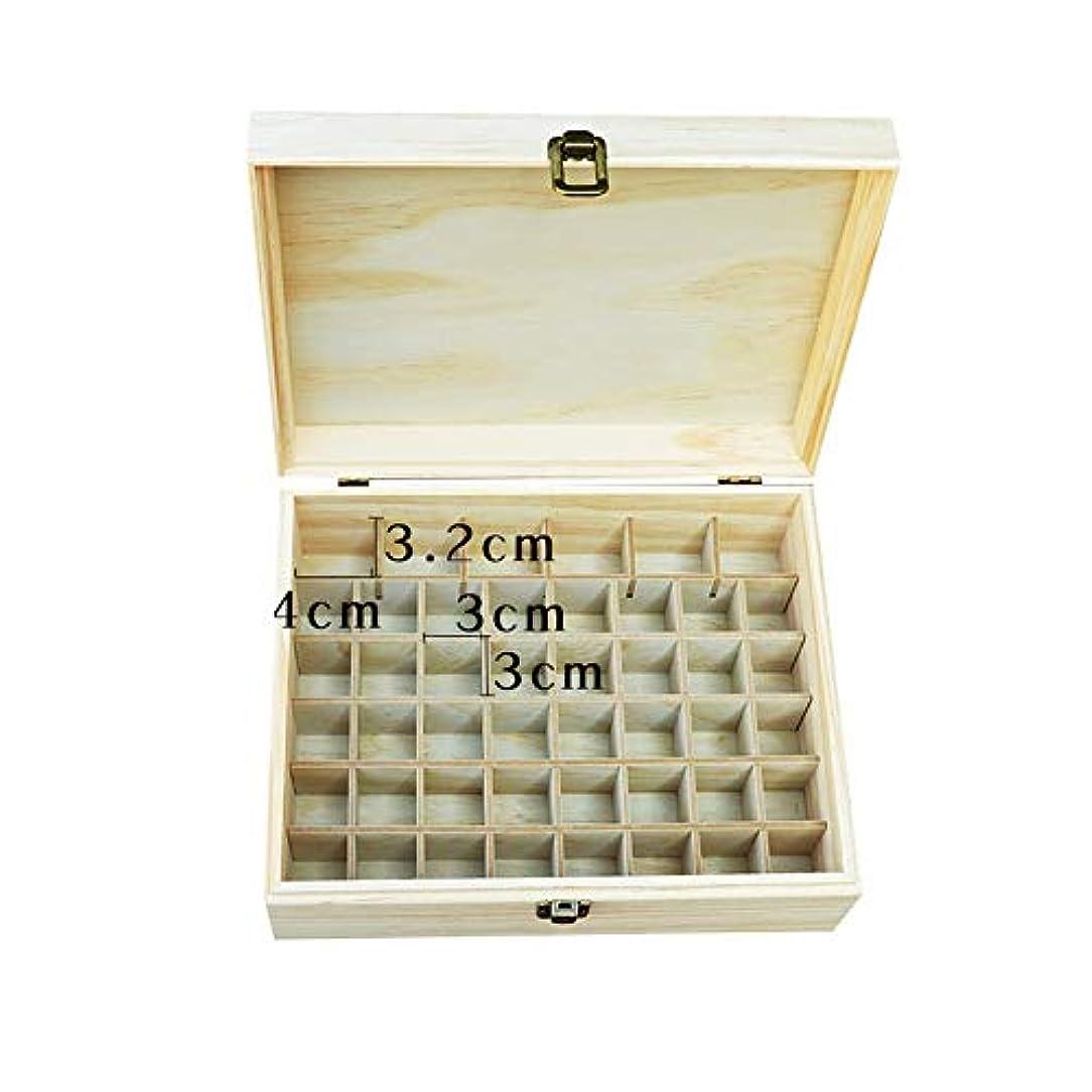 ケーププラスチック定期的に大46ボトル木製のエッセンシャルオイルの収納ボックス アロマセラピー製品 (色 : Natural, サイズ : 22.2X10.2X8.2CM)